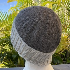 Hand Knitted Beanie, Alpaca Wool, Classic Knit Pattern