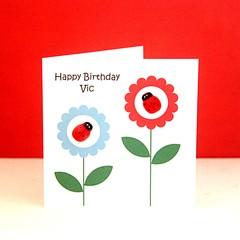 Birthday card | Personalised Custom Made | Ladybugs | For Her Teen