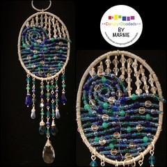 Blue Wave Suncatcher (swirl)
