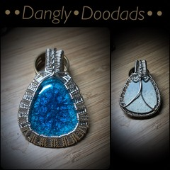 Blue Crackle Glaze Pendant