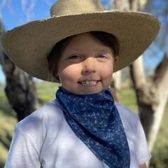 Llama denim scarf / bandana