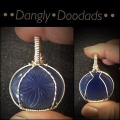 Carved Blue Onyx Mini Pendant