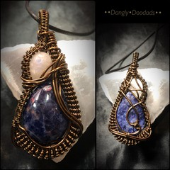 Sodalite & Moonstone Pendant