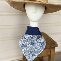 Light blue floral scarf / bandana