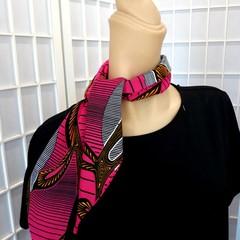Ruby Pocket Scarf Ankara Pink