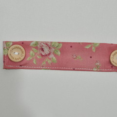 Pink Floral Love Ear Saver for Ear Loop Face Masks