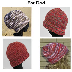 Beanies for DAD.  Warm, unique, handmade