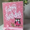 Birthday Handmade Card  - Owl