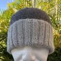 Hand Knitted Beanie, Alpaca Wool, Classic Knit Pattern