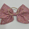 Ditzy Pink Bow Ear Saver for Ear Loop Face Masks