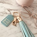 Custom Tassel Keychain, Bridesmaid Gift, Personalised Black Keyring