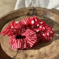 Red and white scrunchies