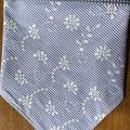 Indigo and white striped scarf