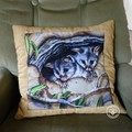 Australiana hand quilted possum cushion cover