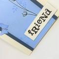 "Blank Card - ""Friend"", stems and butterflies"