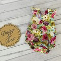Floral Astoria Ruffle Romper, Size 0000 000 00 0 or 1, Baby Girls Playsuit