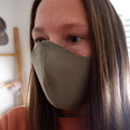 Womens 3 Layered Face Mask - Sage/Away We Go