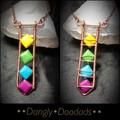 Rainbow Howlite By 4 Pendant