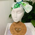 Wire Headband - Blue and Green Flower
