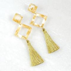 Metallic Gold Collection - tassel earrings