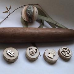 Toys of Wood Natural Hardwood Rolling pin Large