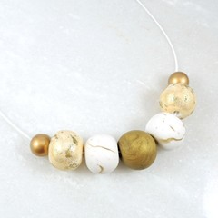 Metallic Gold Collection - beaded necklace