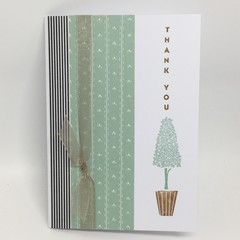 Thank You Card - Topiary Tree