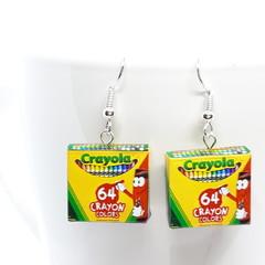 Crayola Crayon Box  dangle Earrings