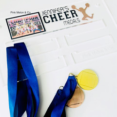 Cheer Sports Medal Holder, Personalised Medal Hanger Display, Cheer Medal Displa