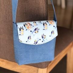 Girls Handbag - Cross Body Bag - Bluey