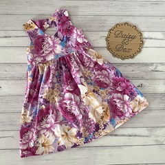 Floral Tea Party Dress, Size 5, Girls Dresses