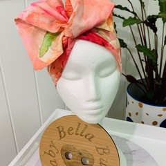 Wire Headband - Pinky/Peach Floral Blend