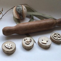 Toys of Wood Natural Wooden Rolling Pin medium