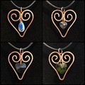 Heart Hammered Copper Pendants (4x available)