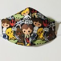 READY TO POST 3 layer Mask Star Wars Face Cover Reusable Cloth Mask