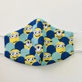 READY TO POST 3 layer Mask Minion Face Cover Reusable Cloth Mask