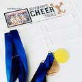 Cheer Sports Medal Holder, Personalised Medal Hanger Display, Cheer Medal Displa
