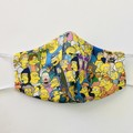 READY TO POST 3 layer Mask Simpsons Face Cover Reusable Cloth Mask