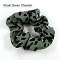 Leopard print lanyard gift set - jungle green