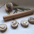 Toys of Wood Natural Wooden Rolling pin small