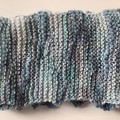Midnight Blue Hand knitted bamboo scarf