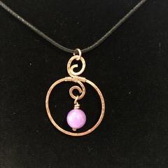 Simple Copper Circlet Pendants (6x available)