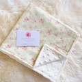 """Baby minky """"everywhere"""" blanky - green floral"""
