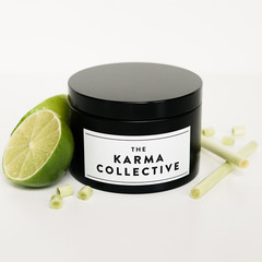 Lemongrass & Lime Scented Soy Candle Tin