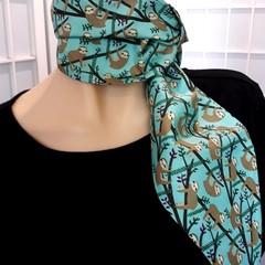 SLOTH neck tie scarf