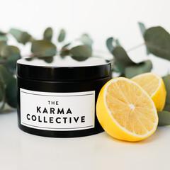 Eucalyptus & Lemon Scented Soy Candle Tin