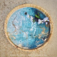 Resin Art Bamboo Serving Trays - Made to order