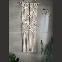 Handmade macrame wall hanging. Design PETAL