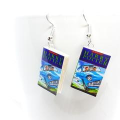 Miniature Book dangle earrings, Harry Potter book, Chamber of Secrets