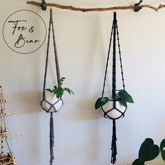Macrame plant hanger. Design DAHLIA - EX DISPLAY - AS NEW - ONE ONLY